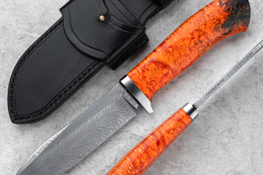 NÓŻ MYŚLIWSKI FEATHER DAMASCUS HUNTER