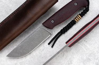 NÓŻ SURVIVALOWY WDOWA MINI 6 MICARTA BORDO D2 TD